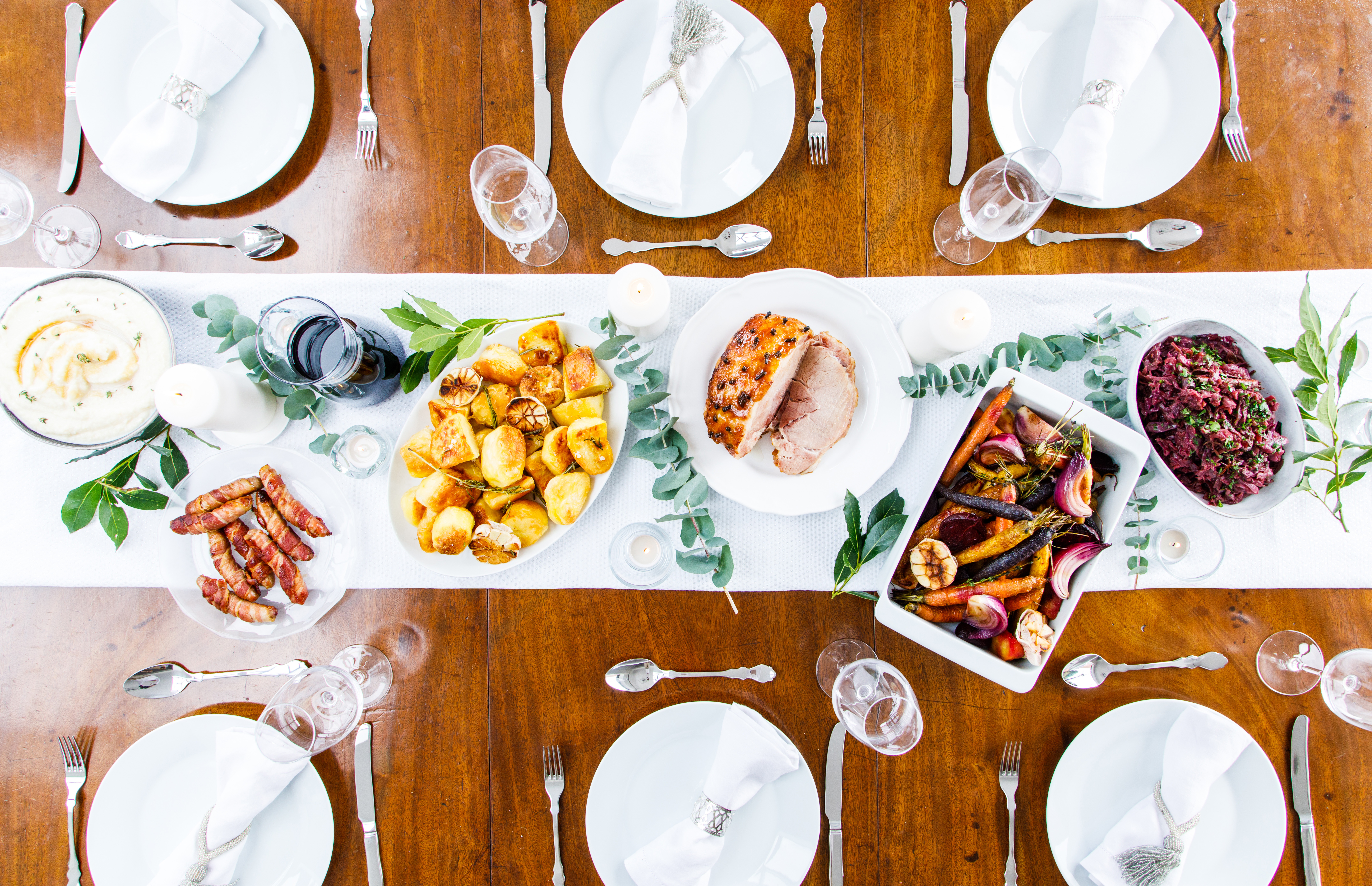 Full table of winter food